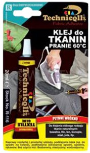 KLEJ DO TKANIN TECHNICQLL 20ML 01201